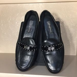 Brighton, Black Leather Loafer Shoes, Flats